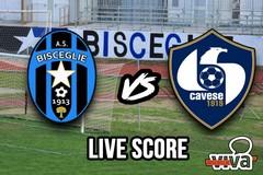 Bisceglie-Cavese 0-1, il live score