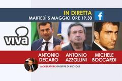 Antonio Decaro, Antonio Azzollini e Michele Boccardi in diretta sul network Viva
