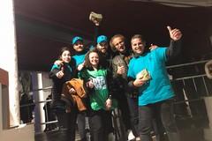 """I volontari di """"No alcol ai minori"""" presenti alla riapertura del DF a Bisceglie"""