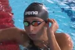 Elena Di Liddo oro nei 50 e 100 farfalla a Roma