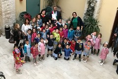 I piccoli della scuola dell'infanzia di via Fani in visita presso il comune