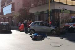 Scontro auto-moto all'incrocio tra via Piave e via Veneto
