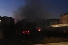 Incendio in via Padre Kolbe