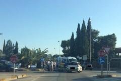Scontro auto-moto in via Sant'Andrea