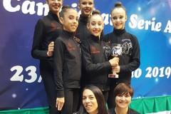 Ginnastica Ritmica Iris seconda a Desio nella terza prova del campionato di A2