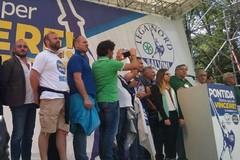 Raduno leghista a Pontida, Prete e Abruzzese chiamano a raccolta: «Tutti a fianco di Matteo Salvini»