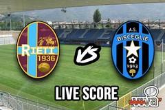 Rieti-Bisceglie 2-2, il live score