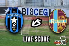 Bisceglie-Rieti 0-1, il live score