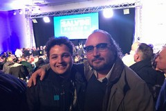 Rocco Prete alla manifestazione di Napoli a fianco di Matteo Salvini