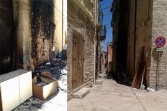 Rogo di rifiuti nel centro storico, danni alla chiesetta di Sant'Antonio Abate