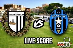 Sicula Leonzio-Bisceglie 2-1, il live score