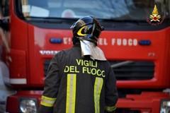 Principio d'incendio in zona Misericordia, intervento dei Vigili del fuoco