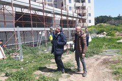 Sopralluoghi di Vittorio Fata ai cantieri di Salnitro e della nuova scuola nei pressi dell'ospedale