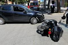 Scontro auto-scooter, un ferito
