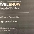 "La Puglia premiata a New York con il  ""2019 Award of Excellence """