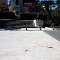 Vernice rossa dopo la Passione Vivente in Piazza Vittorio Emanuele II