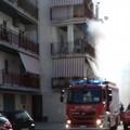 Incendio in zona Santa Caterina