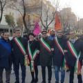 Il sindaco Angarano alla marcia contro le mafie di Foggia