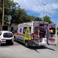 Incidente sulla rotatoria di via Imbriani, giovane centauro ferito