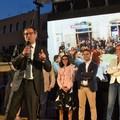 Elezioni, comizio di Angelantonio Angarano in via Aldo Moro
