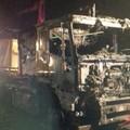 Il camion va a fuoco, due biscegliesi riescono a mettersi in salvo