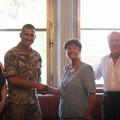 Carlo Salerno e i suoi familiari ringraziano il fante Luigi Caricola