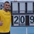 Cannonata nel peso da 6 kg, Carmelo Musci sfiora i 21 metri