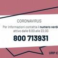 Coronavirus, attivo un numero verde regionale