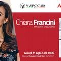 """Chiara Francini presenta  """"Un anno felice """" alle Vecchie Segherie Mastrototaro"""
