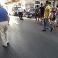 Scontro auto-scooter in via Imbriani