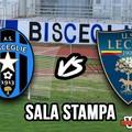 Sala stampa Bisceglie-Lecce: Fabio Liverani, Luca Di Matteo e Giuseppe Torromino