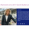 Il fisico biscegliese Pantaleo Raimondi vince il prestigioso Gersh Budker prize
