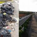 Primi interventi di rimozione dei rifiuti sulle piazzole di sosta della statale 16 bis