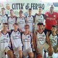 Coach Scoccimarro e due atleti della Di Pinto Panifici al torneo internazionale Under 15 di Fermo