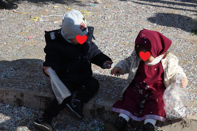 Piccoli protagonisti del Carnevale. <span>Foto Antonio Dell'Olio</span>