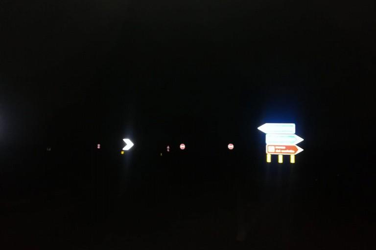 Svincolo della provinciale Bisceglie-Andria privo di illuminazione