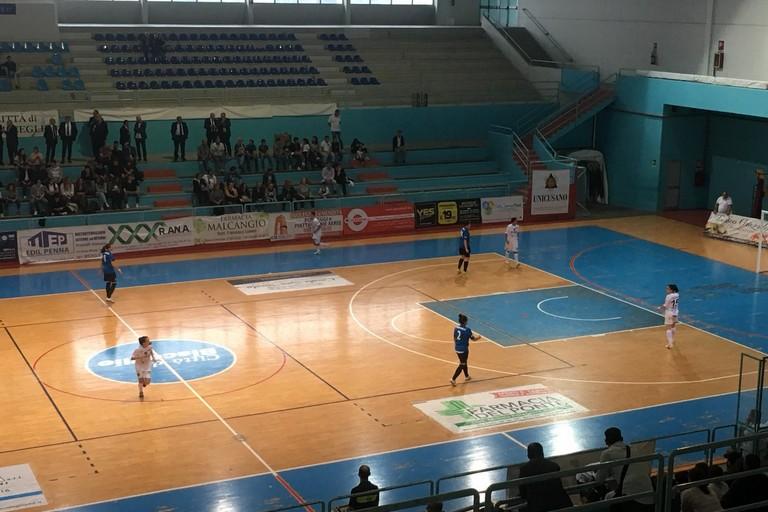 Una fase del match fra Bisceglie Femminile e Olimpus Roma. <span>Foto Luca Ferrante</span>