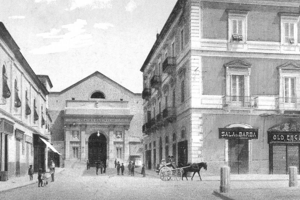 Bisceglie cartolina teatro Garibaldi