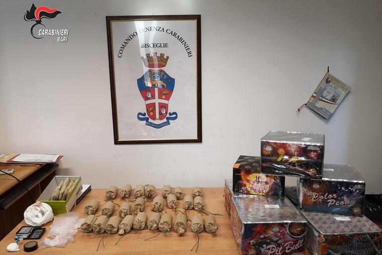 I botti sequestrati dai Carabinieri a Bisceglie