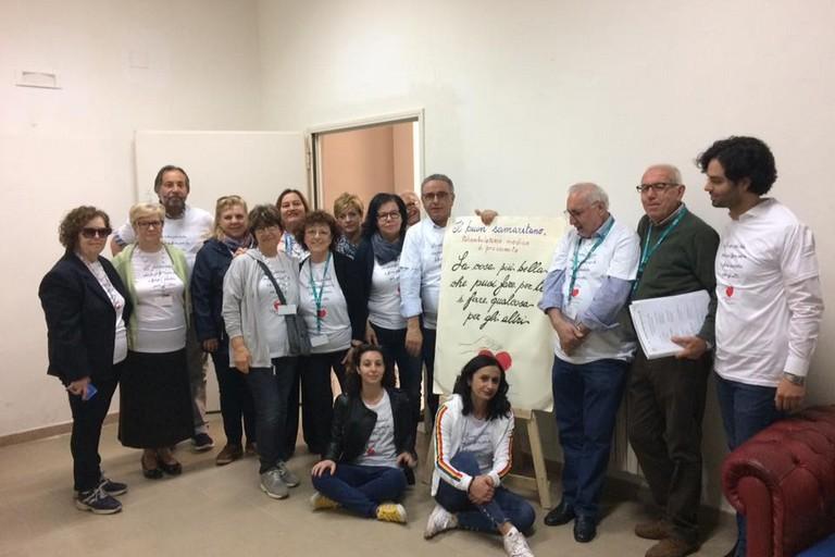 Staff del Poliambulatorio il buon samaritano e volontari Epass