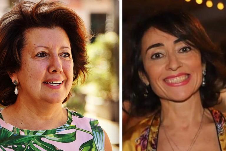 Giuseppina Pedone a sinistra, Caterina Bruni a destra