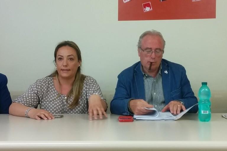 Daniela Fortunato e Giuseppe Deleonardis della Cgil