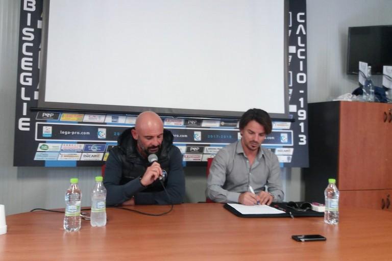 Ciro Ginestra in conferenza stampa