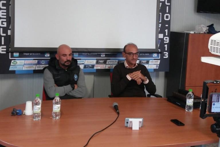 Mister Ciro Ginestra e il dirigente Todaro