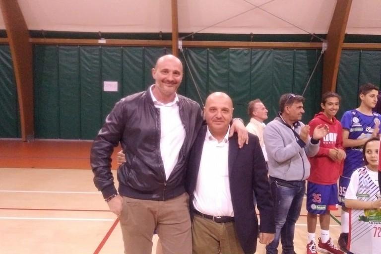 Coach Gigi Marinelli col presidente Mimmo Di Benedetto