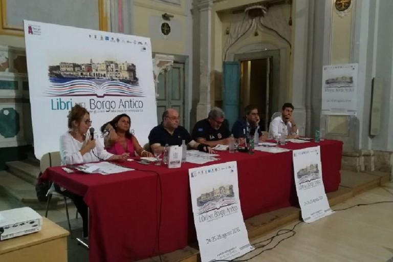 La conferenza di presentazione della nona edizione di Libri nel Borgo Antico (Foto Cristina Scarasciullo)