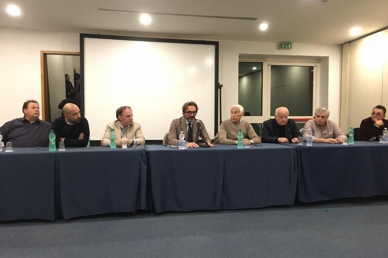 Conferenza stampa dirigenti biscegliesi A. S. Bisceglie calcio. <span>Foto Luca Ferrante</span>