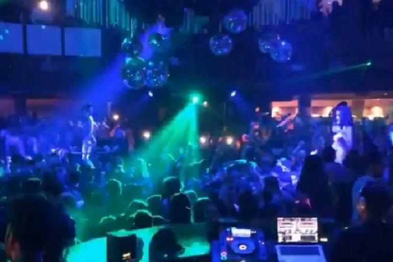 Evento di inaugurazione della discoteca DF