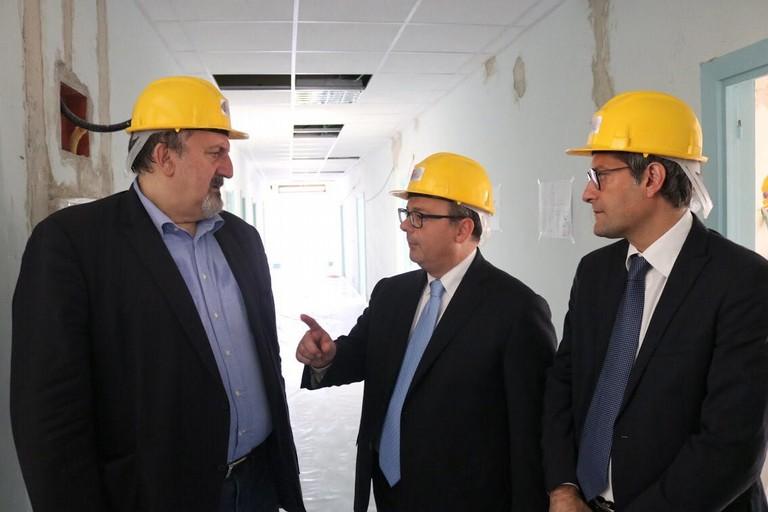 Il presidente della regione Michele Emiliano in visita a Bisceglie