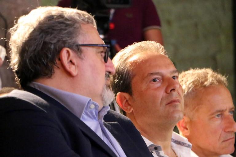Michele Emiliano e Francesco Spina (Foto Alberto Dell'Olio)